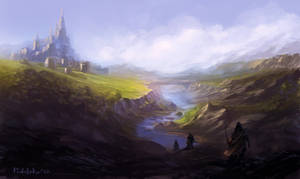 Castle in the Valley by vennom07