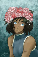 Avatar in a Flower Crown by Blue-Starr