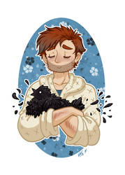 SH - A Man and His Chicken by Blue-Starr