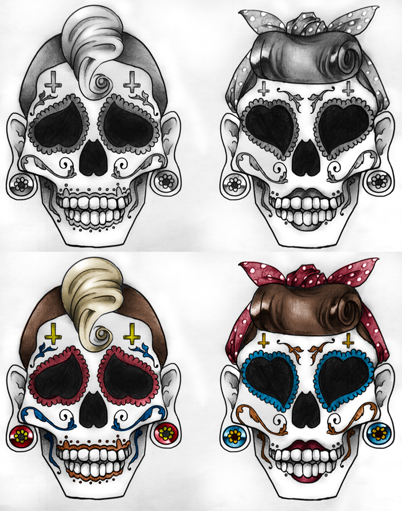 candy skull tattoos by camaryn on deviantart. Black Bedroom Furniture Sets. Home Design Ideas