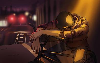 Ending a Night Ride by Camaryn