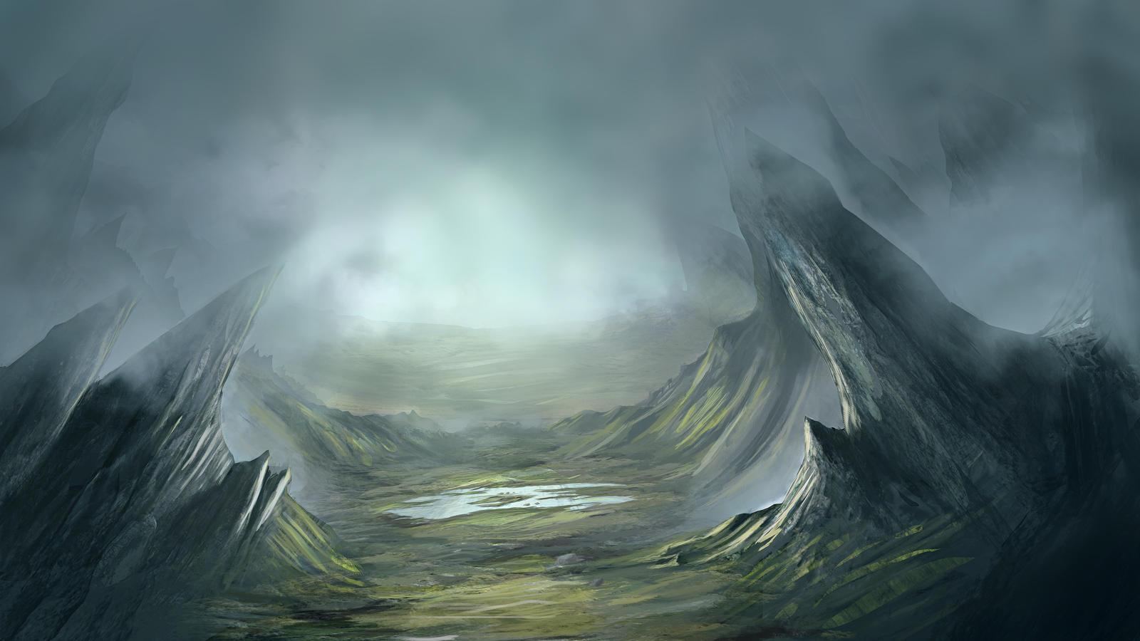 Fantasy Landscape by sjruk