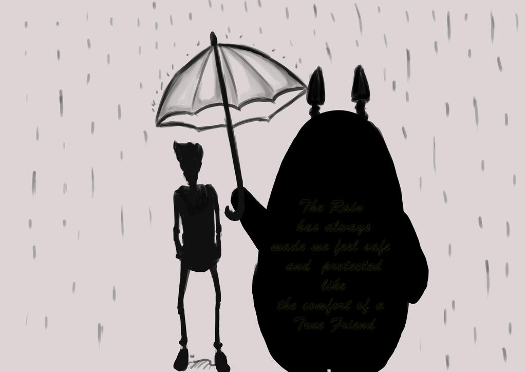 Cody meet totoro Rainy days by MatsuyamaSc on deviantART