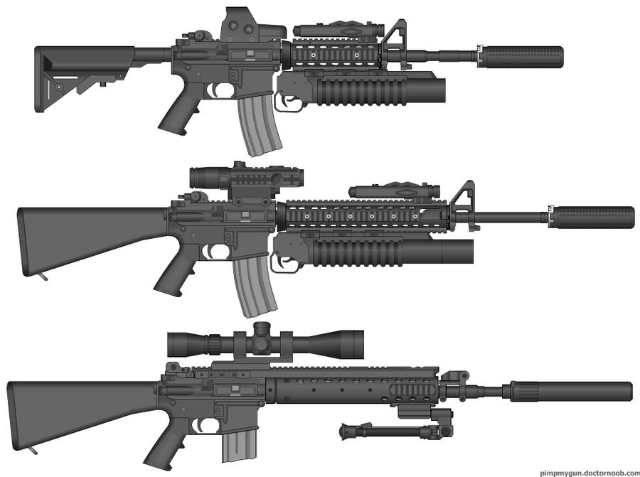 M16 SOPMOD family by  M16