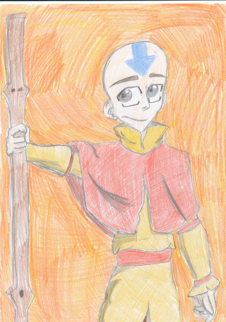 Avatar Aang by Ilikepotato