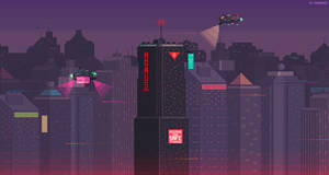 Cyberpunk city by kirokaze