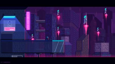 Leaving home - cyberpunk theme by kirokaze