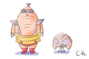Krang and His Body by mrstupes