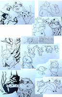 Bidoof Sketch Dump by mrstupes