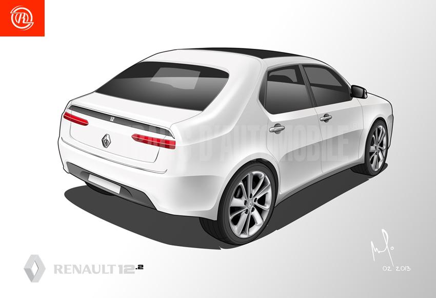 renault 12 2013 rear by amauryder on deviantart. Black Bedroom Furniture Sets. Home Design Ideas