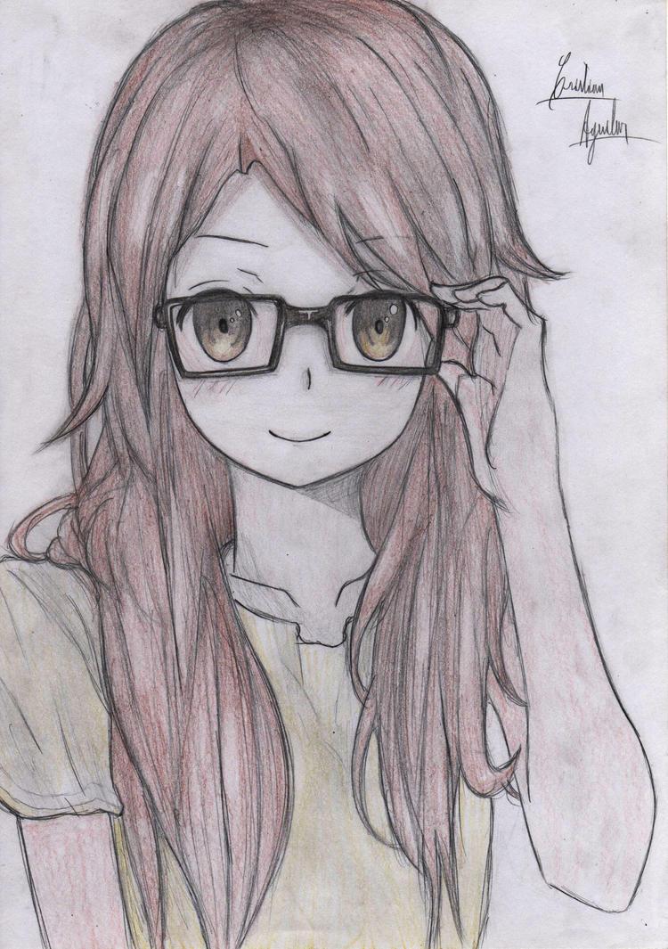 Glasses Anime Girl By ChristARG On DeviantArt