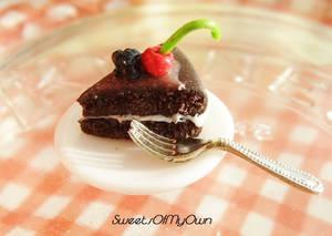 Chocolate Fruit Cake Slice Miniature