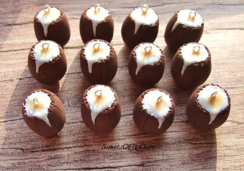 Chocolate Creme Egg Army - Earrings, Charms