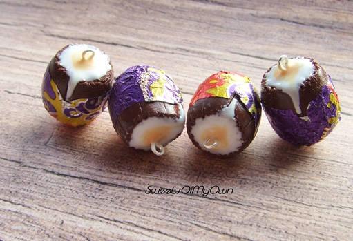 Chocolate Creme Egg Charms/Earrings
