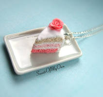 Pink Rose Layer Cake Necklace