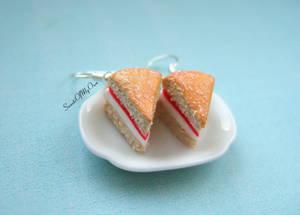 Victoria Sponge Cake Dangle Earrings