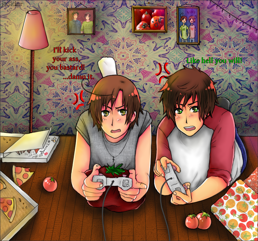 APH Playing Video Games By Jaskierka