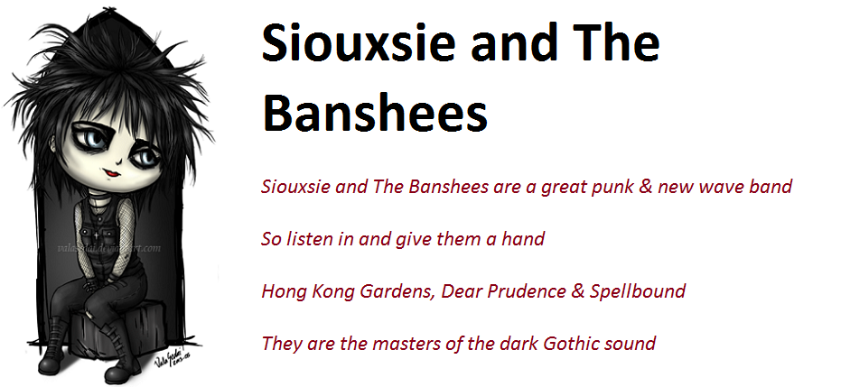 Siouxsie and The Banshees by demonrobber
