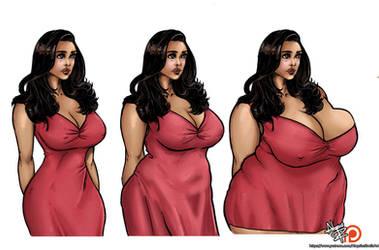 Amy Santiago Weight Gain by AloysiusEroticArt