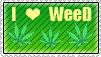I love Weed Stamp by stambataa
