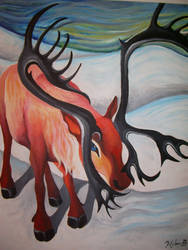 Caribou by kels-in-color