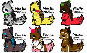 FREE Pikus Fox Adopts [Closed] by AnimeManga-Maniac