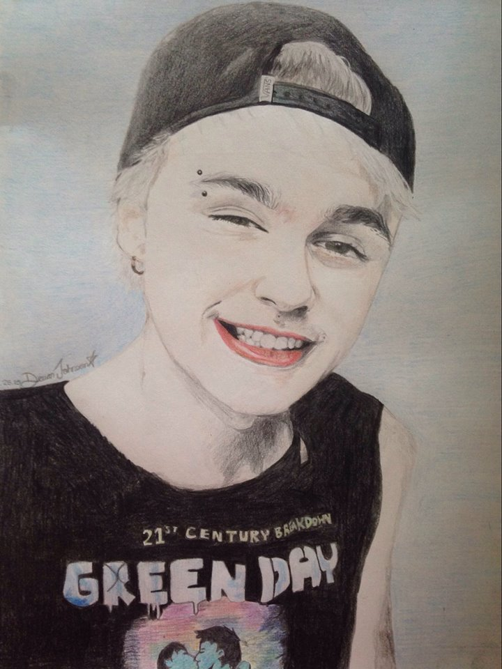 Michael Clifford Pencil Crayon Drawing by Devan-Johnson on ...