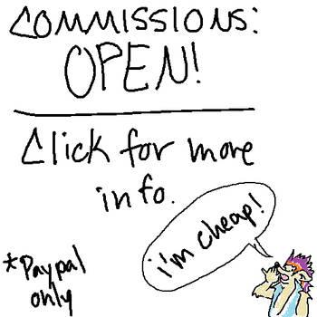 Commissions Open by MahluaandMilk