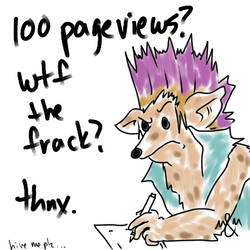 100 Pageviews??? by MahluaandMilk