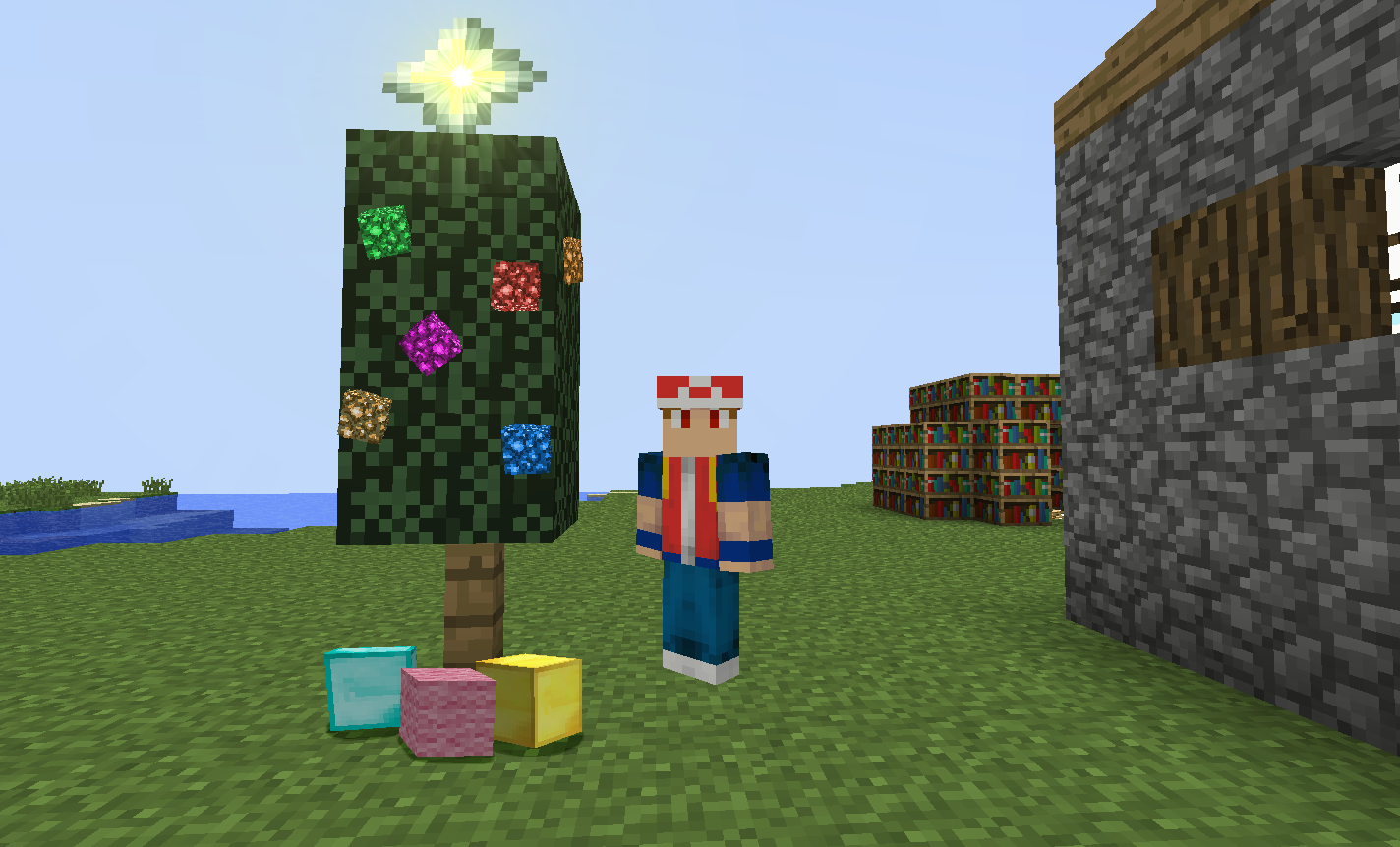 Minecraft Christmas Tree Star Merry minecraft christmas! by