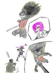 Robin Vs Dan by Hakuru15