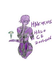 Cortana - Halo Combat Evolved 2001 - 2016 by Hakuru15