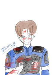 Resident Evil 2 - Leon S Kennedy Bloody Version by Hakuru15
