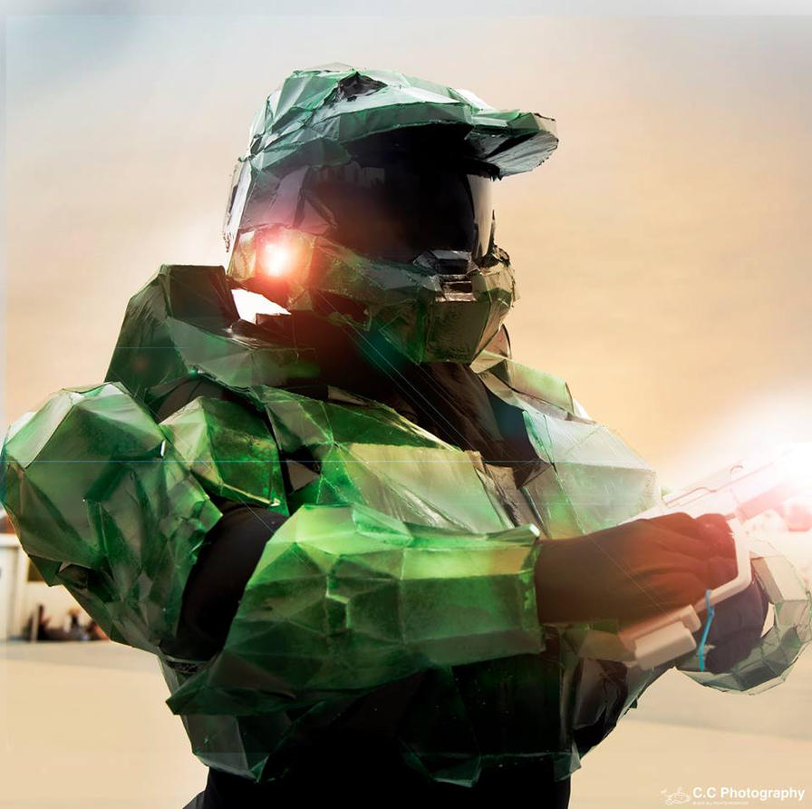 Masterchief ICONIC ART STYLE Oz Comic Con by Hakuru15