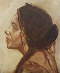 Live Model OIl Painting 20minutes