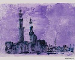 Purple Wash Mosque Architecture
