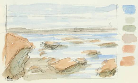 Rocky Beach Sketch 2