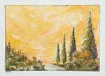 Golden Forest by StatiraArt