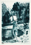 Hiding in Plain Sight (Drypoint)