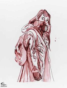 Gasmask in Ink