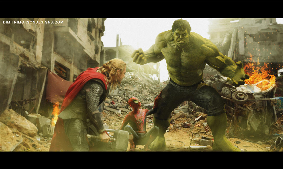 Hulk vs Thor (with some help from Spider Man) by dmorson ...