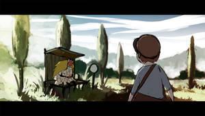 Peter meets a Paper Man