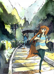 Walking on the Tracks by ashwara