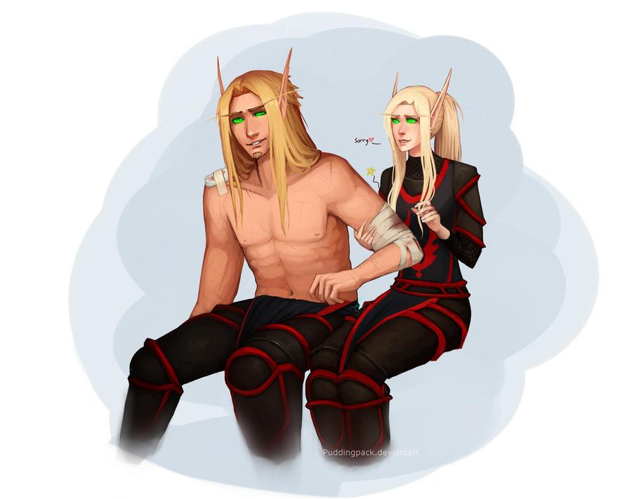 Anierous and Lori'vaen by PuddingPack