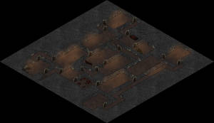 Ilia's Cathedral Dungeon L2 Isometric Map