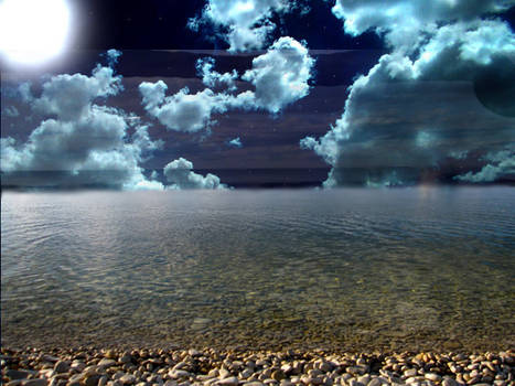 Night Beach Stock