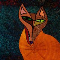 The fox in the night by Aspartam