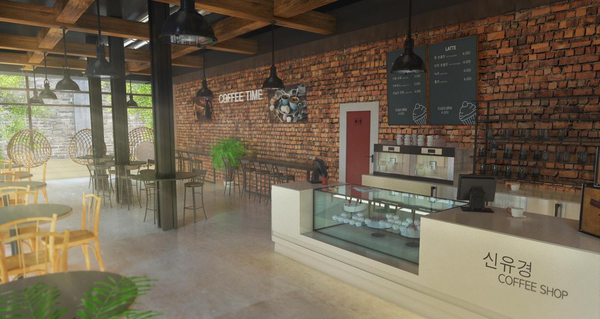 Korean Coffee Shop Interior By Tschreurs On Deviantart