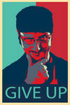 Give Up Poster Nostalgia critic (Hope obama style)