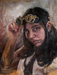 Steampunk Self-Portrait by hever